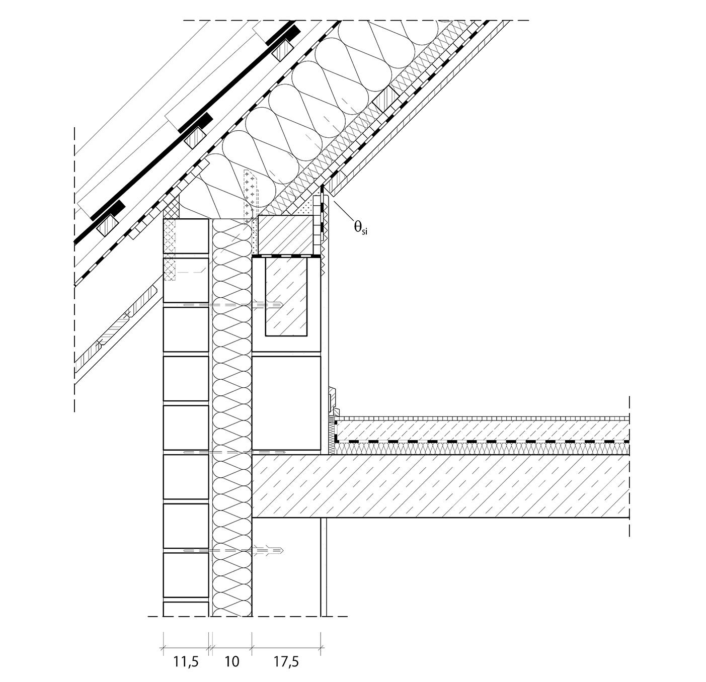 4 5 1 2 anschlusspunkt dach architektenordner - Dicke innenwand ...